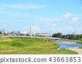 강변, 하천 부지, 강 43663853