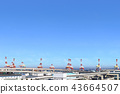 Honmoku碼頭的龍門起重機 43664507
