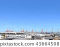 Honmoku碼頭的龍門起重機 43664508