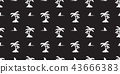 palm tree seamless pattern coconut tree vector 43666383