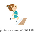 running long jump, track and field events, player 43666430