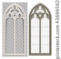 Medieval Gothic Lancet window 43666562