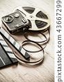 Vintage filmmakers equipment background 43667299