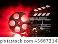 Vintage filmmakers equipment background 43667314