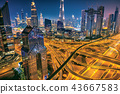 Dubai sunset panoramic view of downtown 43667583