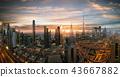Dubai sunset panoramic view of downtown. 43667882