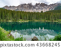 View of the beautiful Mount Latemar in Dolomites 43668245