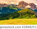 View of the limestone Italian Alps, the Dolomites 43668251
