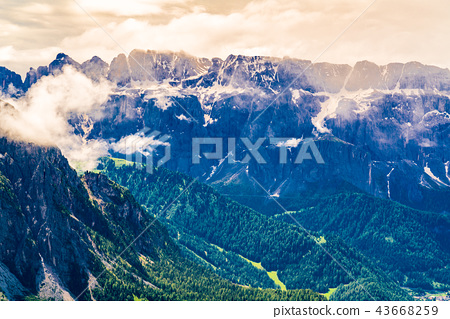 Beautiful landscape of the mountain of Dolomites 43668259