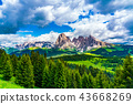Landscape of the famous Seiser Alm 43668269