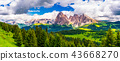 dolomites,green,hill 43668270