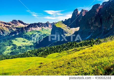Natural landscape of the limestone Italian Alps 43668288