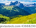 View of beautiful Dolomites mountain 43668290