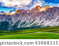 View of the beautiful Dolomites mountain 43668315