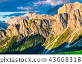 Summer mountain landscape of the Dolomites 43668318