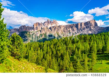 Beautiful summer landscape of the mountain Dolomit 43668329