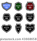 United States Numdered Sign 66 Route 43668658