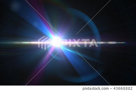 .Abstract digital lens flares special lighting 43668882