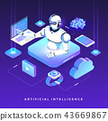 Isometric artificial intelligence AI 43669867