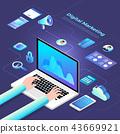 Isometric Digital Marketing 43669921
