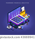 Isometric financial teamwork 43669941