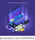 Isometric Online Payment 43669942