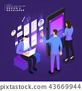 Isometric business UI/UX Team 43669944