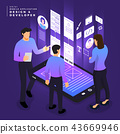Isometric business UI/UX Team 43669946