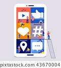 Working space social media team 43670004