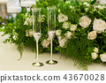 decorating flowers with a wedding celebration 43670028