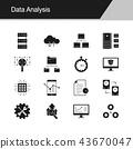 Data Analysis icons.  43670047