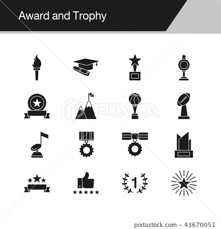 Award and Trophy icons.  43670051