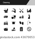 Cleaning icons.  43670053