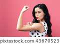 woman,fist,muscle 43670523