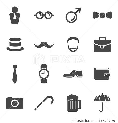 Men moustache props item icons 43671299