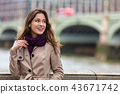 Woman By Westminster Bridge, London, England 43671742