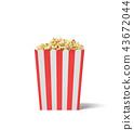 popcorn, white, square 43672044