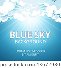 Blue sky and clouds background 43672980