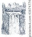 landscape, background, vector 43674774