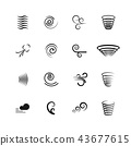 Wind, motion vector icons set 43677615