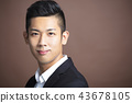 Portrait of handsome asian young man 43678105