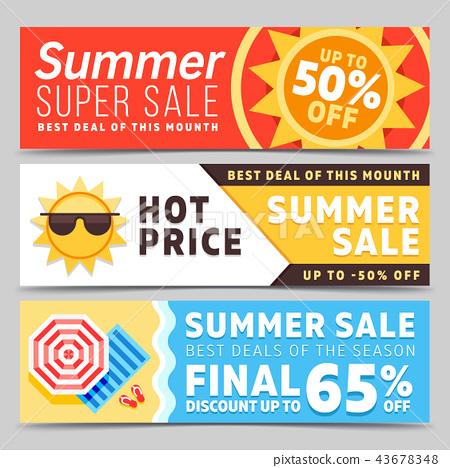 Super sale summer vector banners 43678348