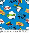 comic, vintage, seamless 43679802
