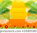 Sale offer poster tropical design layout 43680580