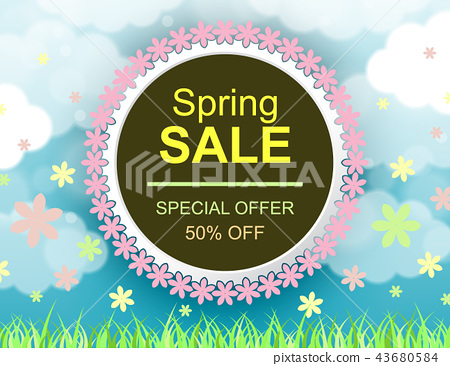 Sale offer poster spring design layout 43680584