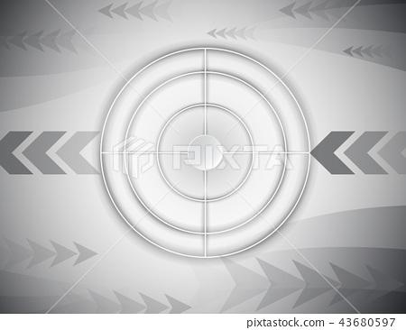 Abstract  radar target shooting range concept 43680597
