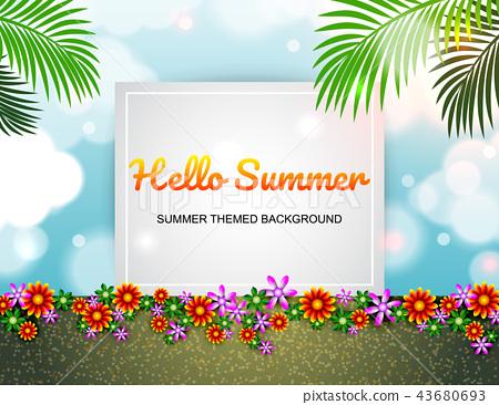 Sale offer poster spring summer design layout 43680693