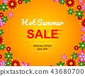 Sale offer poster spring summer design layout 43680700