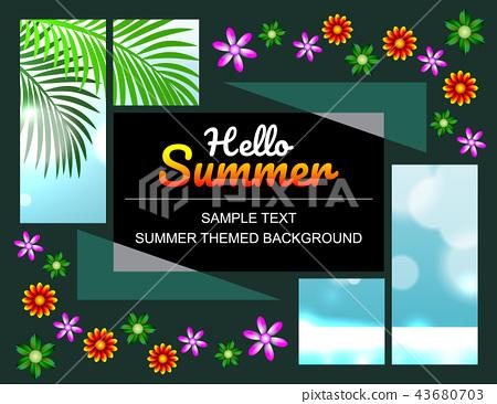 Sale offer poster spring summer design layout 43680703
