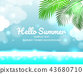 Sale offer poster spring summer design layout 43680710